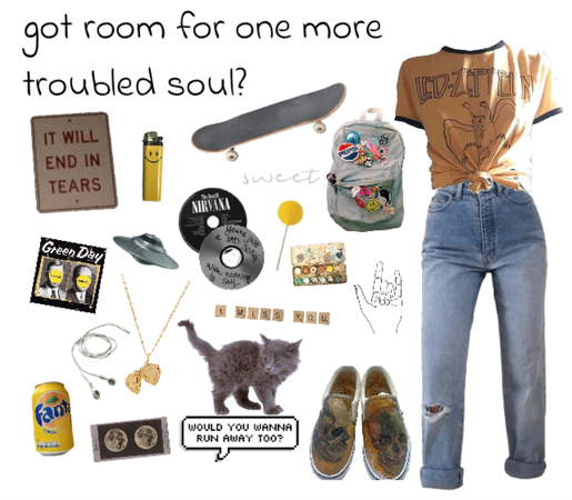 yellow skater / grunge outfit