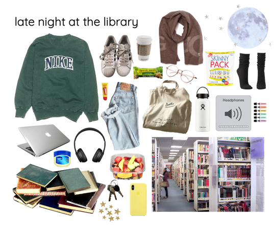 late night at the library