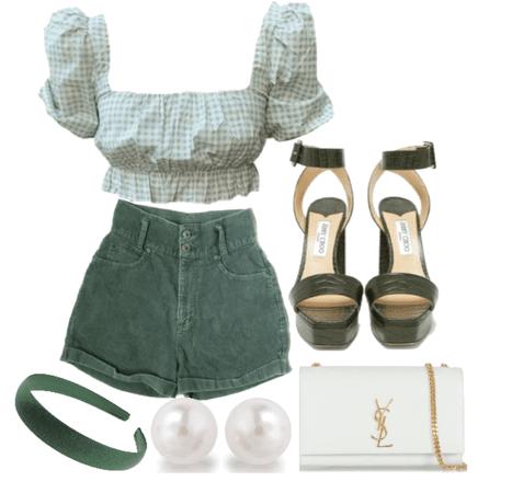 green + white
