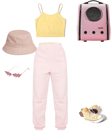 pink and yellow pastel