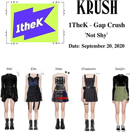 KRUSH 1TheK Gap Crush 'Not Shy'