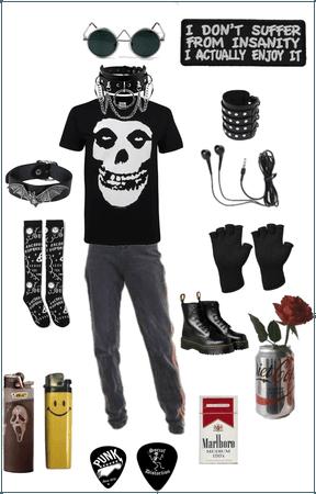 Edgy goth teen