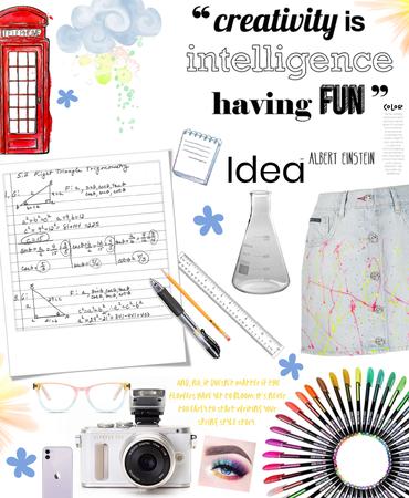 """""""creativity is intelligence having fun"""" - Albert Einstein"""