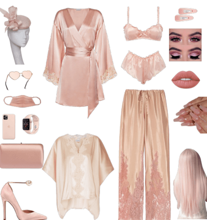 Pretty Pink Pajamas Style Outfit