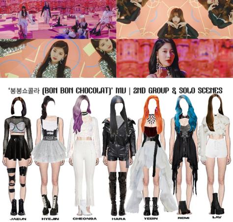 LOVE SCENE   '봉봉쇼콜라 (BON BON CHOCOLAT)' OFFICIAL MV   2ND GROUP & SOLO SCENES