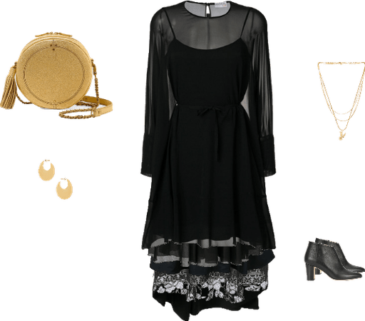 Black & Gold Cruise Outfit