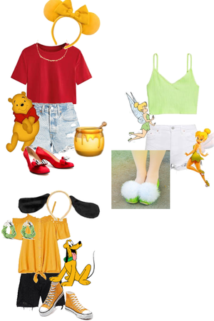 Disney Bonding | Winnie the Pooh, Tinkerbelle, & Pluto