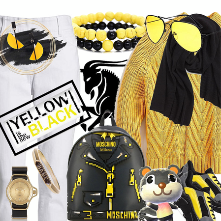 Capricorn in Yellow and Black