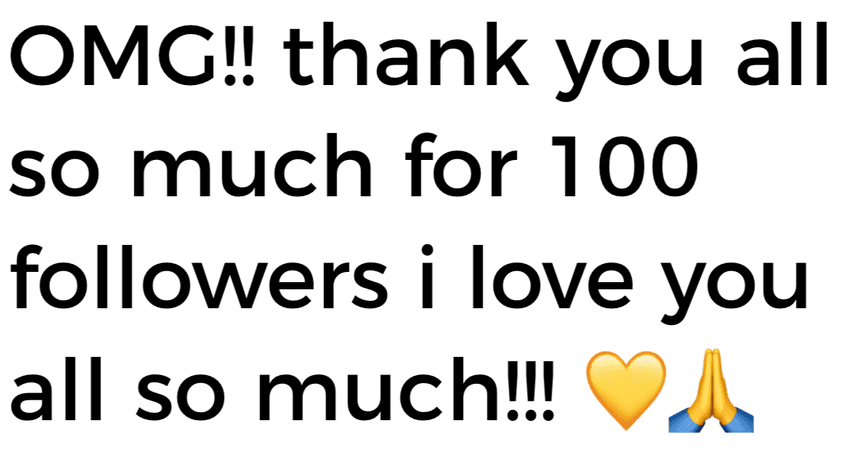 Thanks for 100 followers