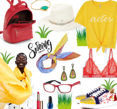 spring in primary colors