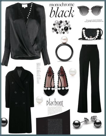 Monochrome Black w Pearls