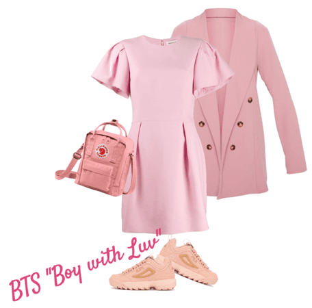 """""""Boy with Luv"""" pink look"""