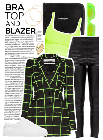 Trend: Bra Top And Blazer