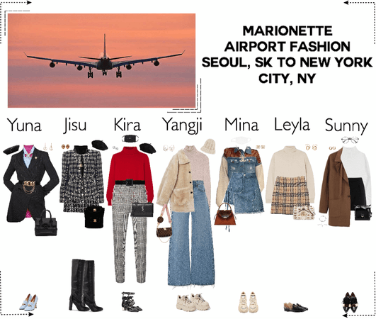 MARIONETTE (마리오네트) Airport Fashion | Seoul, SK to New York City, NY