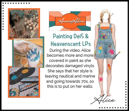 AussieAlice   Painting Dei5 & Heavenscent LPs