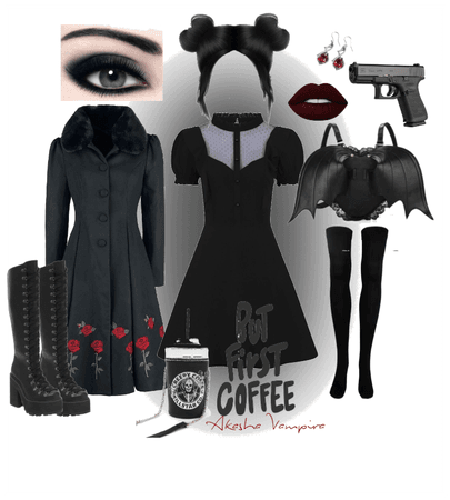 gothic coffee date