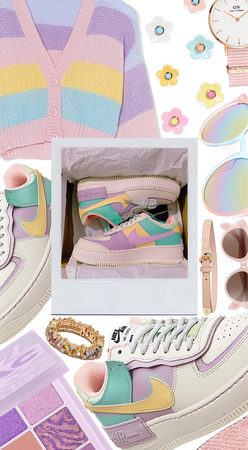 💛Pastel Air Force 1's💛