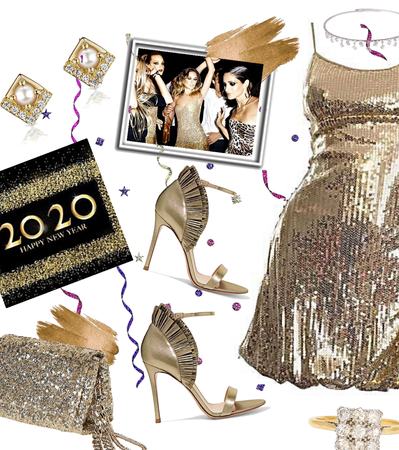 Dazzling in Gold Dance Party NYE
