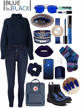 winter monochrome-blue