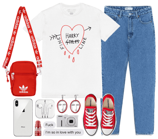 white&red summer outfit