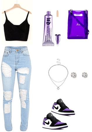 The purple jordan's 💜