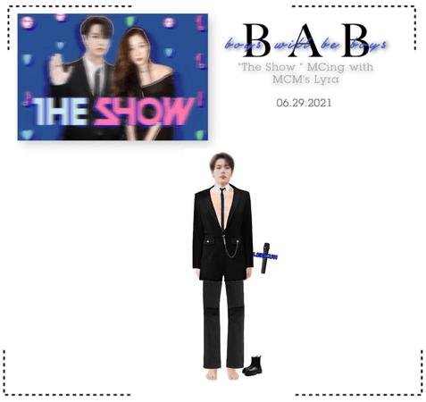 "BAB (항상소년) - Leekun as MC for ""The Show"""