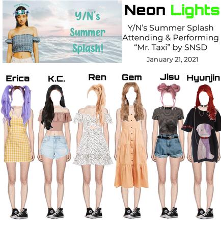 Neon Lights Attending and Performing at Y/N's Summer Splash