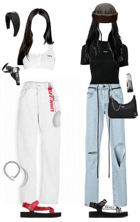 Prada and off white