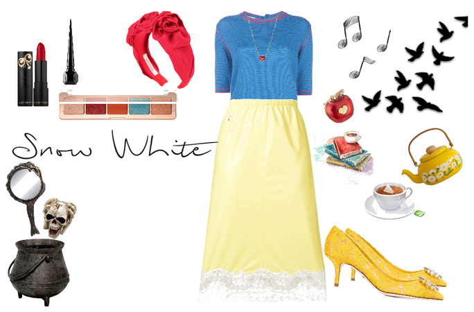 DIY Snow White Hallowee Costume