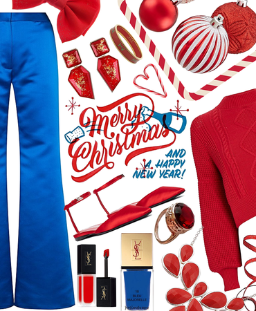 bright red blue holiday