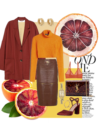 blood orange and yellow