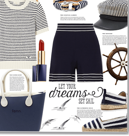 Nautical and stripes - let your dreams sail