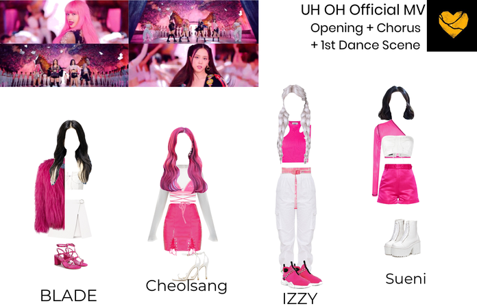 UH OH Official MV Outfits