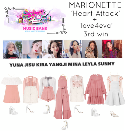 {MARIONETTE} Music Bank Stage 'Heart Attack' + 'love4eva'