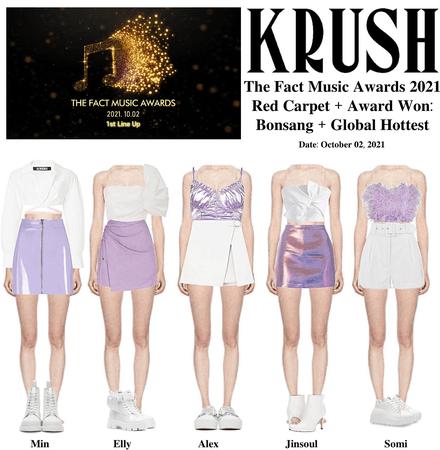 KRUSH 2021 The Fact Music Awards Red Carpet + Awards Won