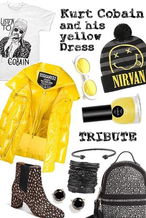 Kurt Cobain and his yellow dress Tribute
