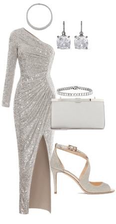 Silver sequin