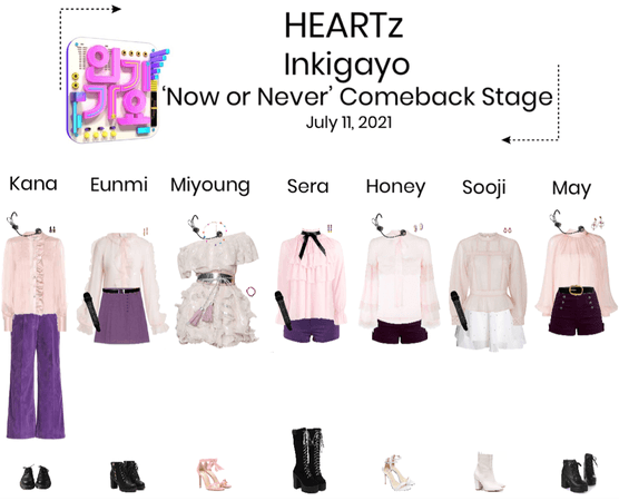 HEARTz//'Now or Never' Inkigayo Comeback Stage
