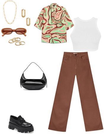 trendy brown fit