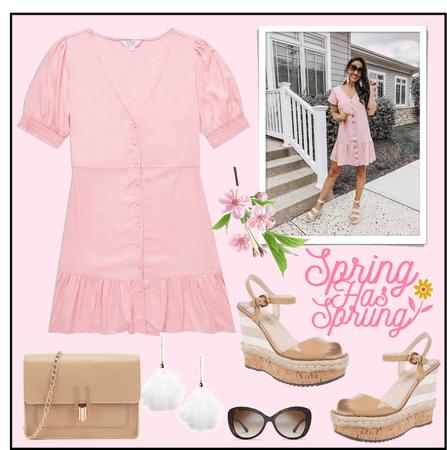 spring - pink dress