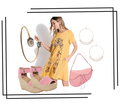 Yellow Trellis Dress