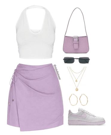 Purple Casual Chic