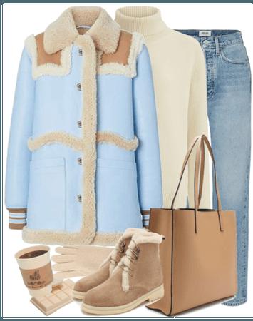 sheepskin coat Burberry