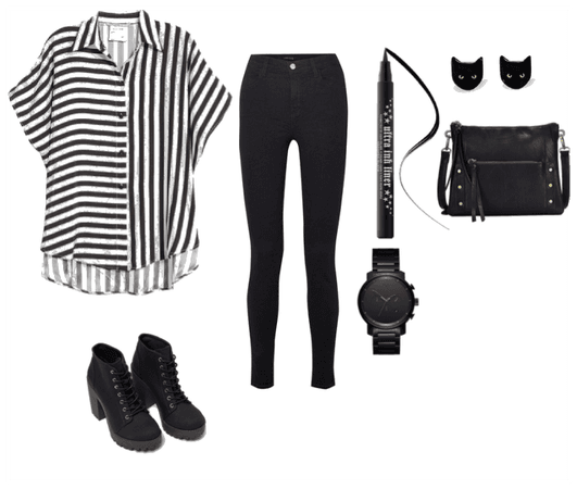 witch look stripes
