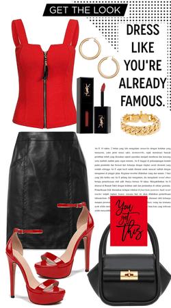 Sexy red black