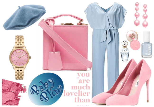 Baby blue lovelier, says pink