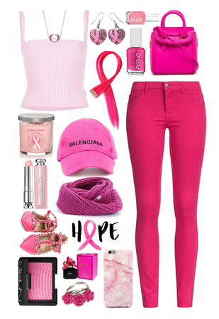 // I wear pink for those in need of hope //