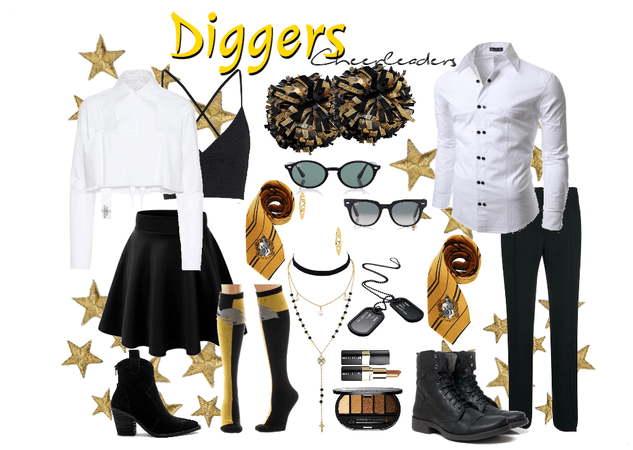 Diggers Cheerleaders Uniform  #3