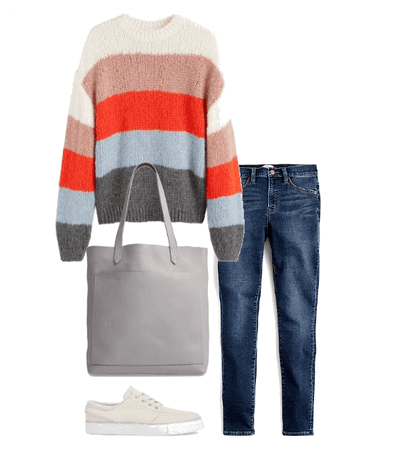 Kind of Sporty Fall Sweater Outfit