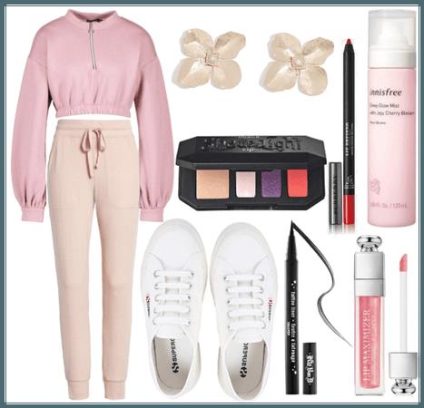 Pink jogging